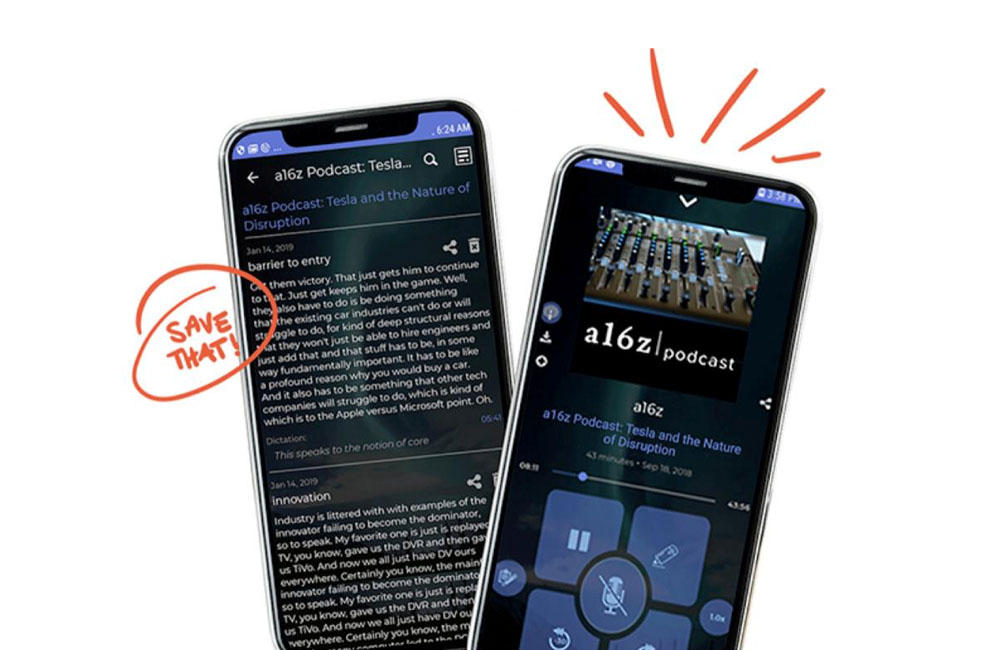 podcast app podcast notes